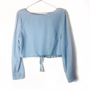 EUC Kendall & Kylie Blue Backless Top Large